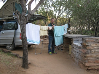 We even had space to put up a washing line for hanging up washing.