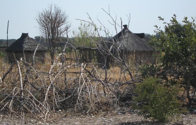 Settlements near Rundu, photo by Morag Noffke.