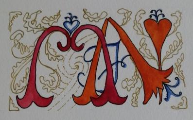 My monogram representing Morag Frances Noffke